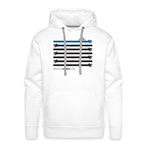 BCL Black Hands One Blue - Men's Premium Hoodie