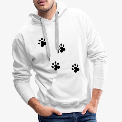cat - Bluza męska Premium z kapturem