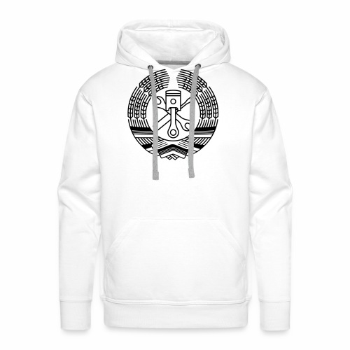 DDR Tuning Coat of Arms 1c (+ Your Text) - Men's Premium Hoodie