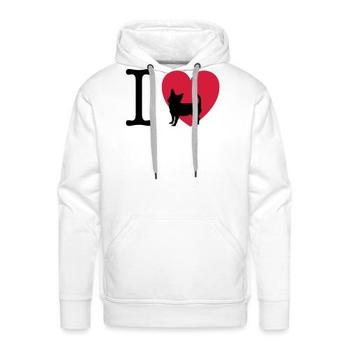 love-chihuahua - Felpa con cappuccio premium da uomo