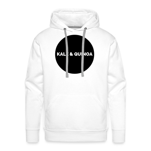 KALE & QUINOA - Bluza męska Premium z kapturem