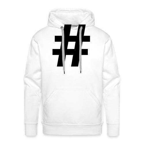 #Hashtag - Mannen Premium hoodie