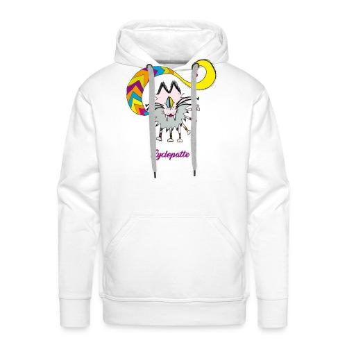 Cyclopatte - Sweat-shirt à capuche Premium pour hommes