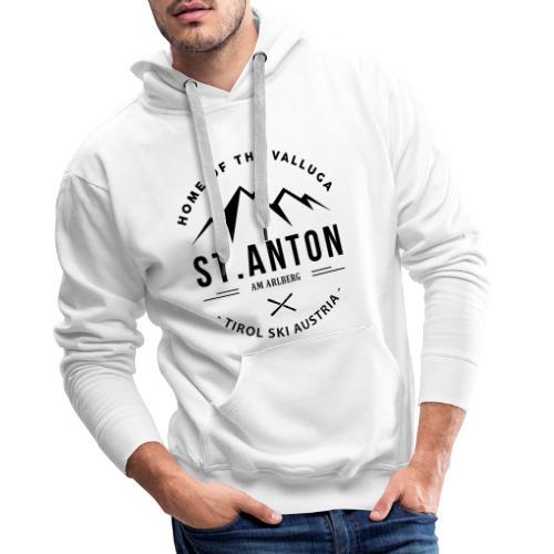 Sankt Anton ski mountain summits - Mannen Premium hoodie