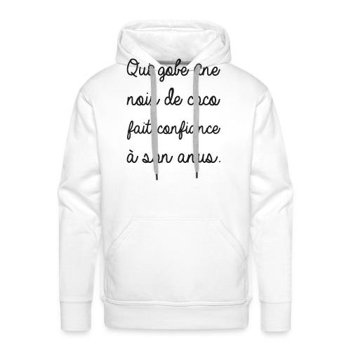 Humour noir et blanc Noix de coco - Sweat-shirt à capuche Premium pour hommes