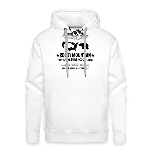 Rocky Mountain Nationalpark Berg Bison Grizzly Bär - Men's Premium Hoodie
