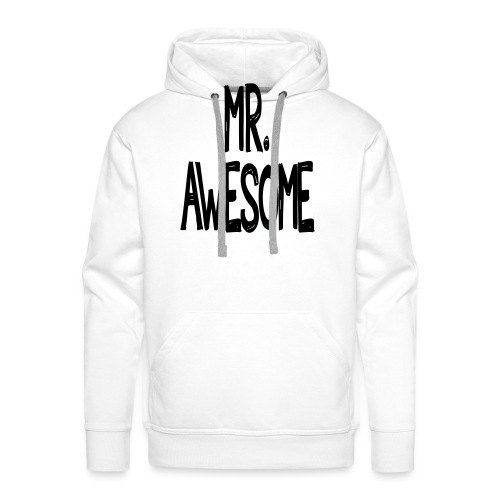 mr awesome - Bluza męska Premium z kapturem