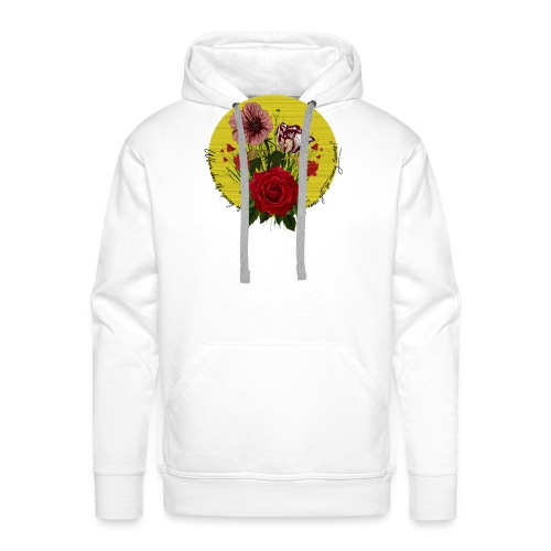 France's flowers design - Sudadera con capucha premium para hombre