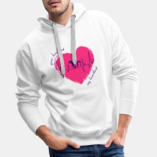 your hoofbeat is my heartbeat galopp_pferd - Männer Premium Hoodie