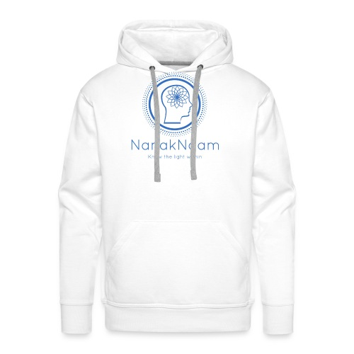 Nanak Naam Logo and Name - Blue - Men's Premium Hoodie