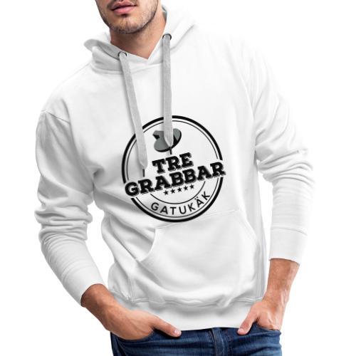 Tre Grabbar Svart - Premiumluvtröja herr
