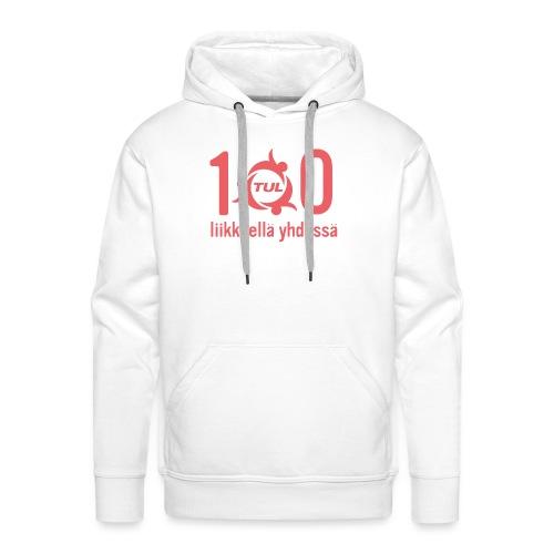 TUL100, punainen logopainatus - Miesten premium-huppari