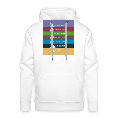 logo zone boutix - Sweat-shirt à capuche Premium pour hommes