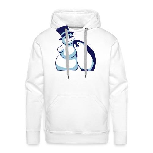 Schneemann und Pinguin - Männer Premium Hoodie