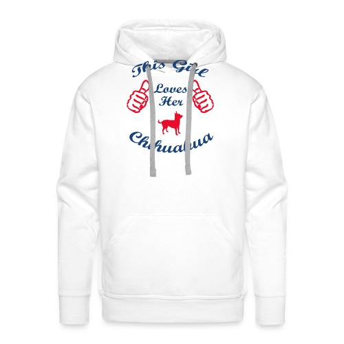This Girl Loves her Chihuahua - Mannen Premium hoodie