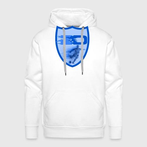 J R Footballers Shield Logo - Men's Premium Hoodie