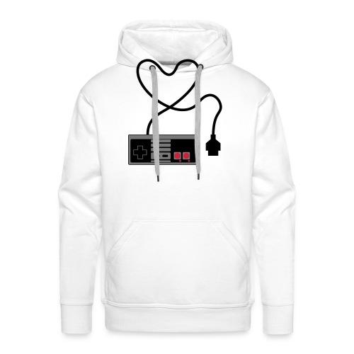 NES Controller Heart - Men's Premium Hoodie
