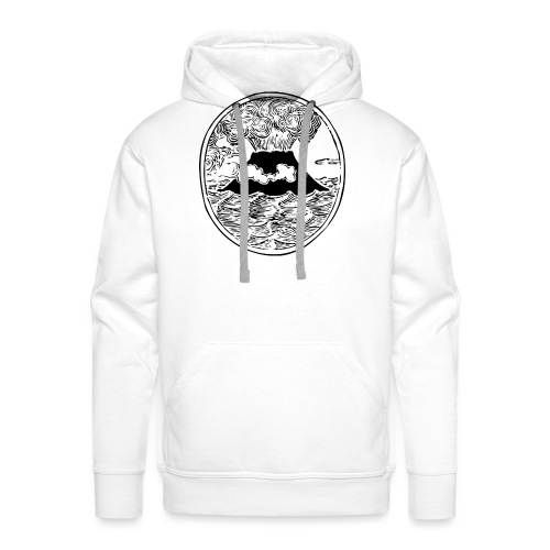 volcano 32829 1280 - Sweat-shirt à capuche Premium pour hommes