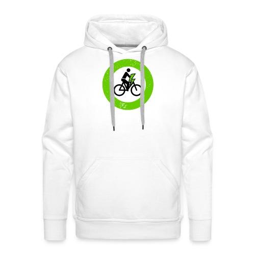 e Bike grün schwarz Schild Logo Emblem - Männer Premium Hoodie