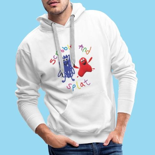 Scribble and splat logo - Men's Premium Hoodie
