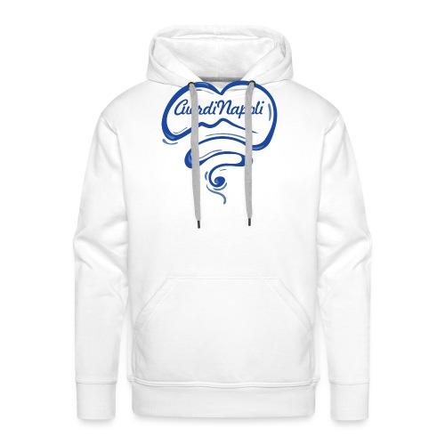 New Logo CuordiNapoli Blu - Felpa con cappuccio premium da uomo