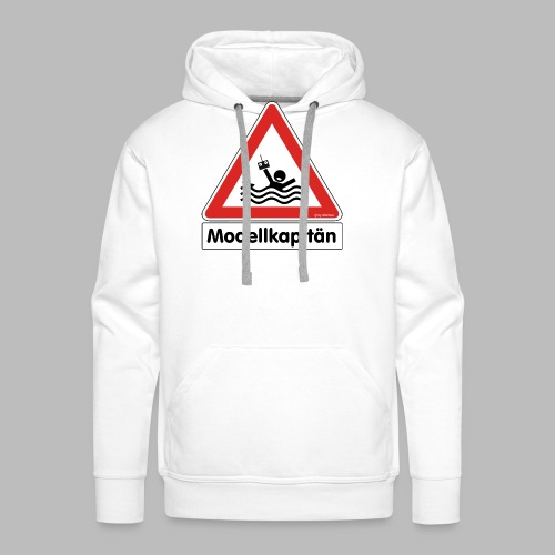Warnschild Modellkapitän - Männer Premium Hoodie