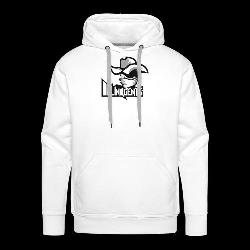 Delinquents Hvidt Design - Herre Premium hættetrøje