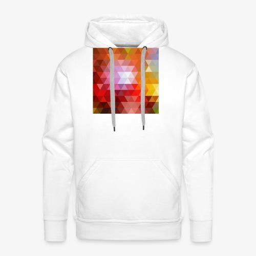 TRIFACE motif - Sweat-shirt à capuche Premium pour hommes