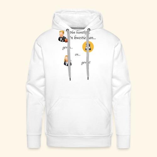 Het huwelijk... - Mannen Premium hoodie