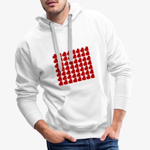 Hearts - Felpa con cappuccio premium da uomo
