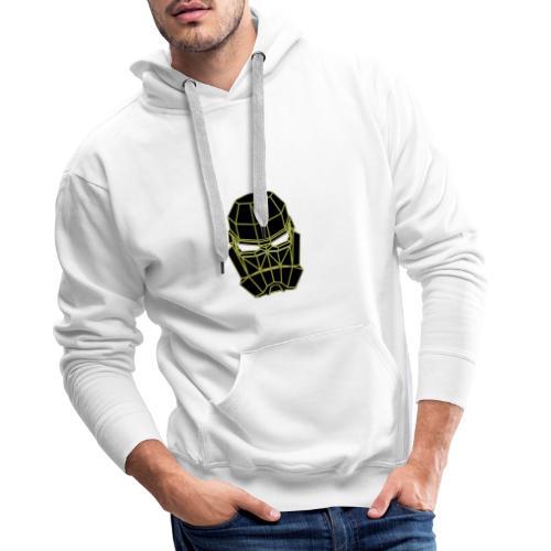 masque espace jaune - Sweat-shirt à capuche Premium pour hommes