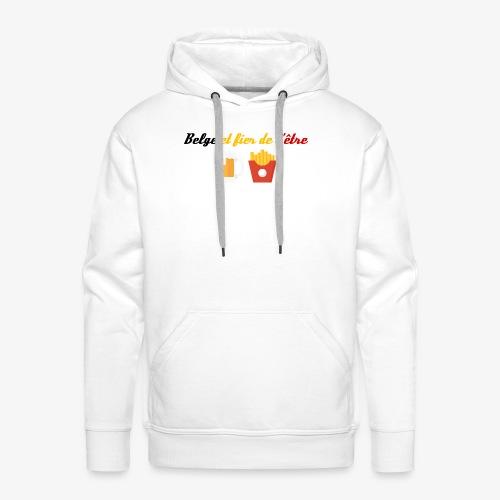 Belge et fier de l'être - Sweat-shirt à capuche Premium pour hommes