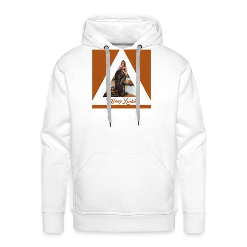 Triangle cuir - Sweat-shirt à capuche Premium pour hommes