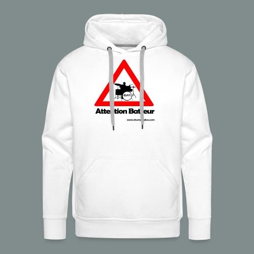 Attention batteur - Sweat-shirt à capuche Premium pour hommes
