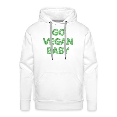 go vegan baby - Herre Premium hættetrøje