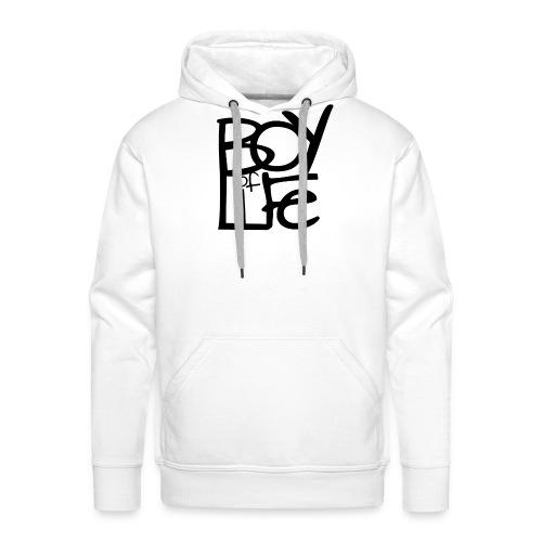 Boy of Life Logo black - Männer Premium Hoodie