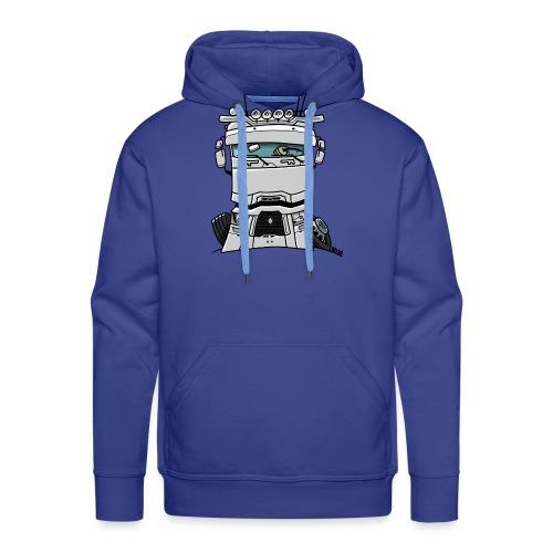 0813 R truck wit - Mannen Premium hoodie