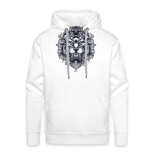Lion Head - Bluza męska Premium z kapturem