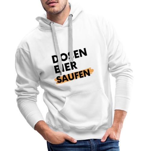Dosenbier Saufen - Männer Premium Hoodie