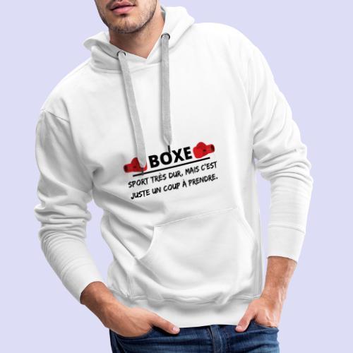 BOXE - Sweat-shirt à capuche Premium pour hommes