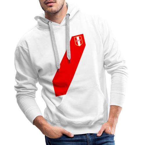Seleccion peruana de futbol (Recto-verso) - Sudadera con capucha premium para hombre