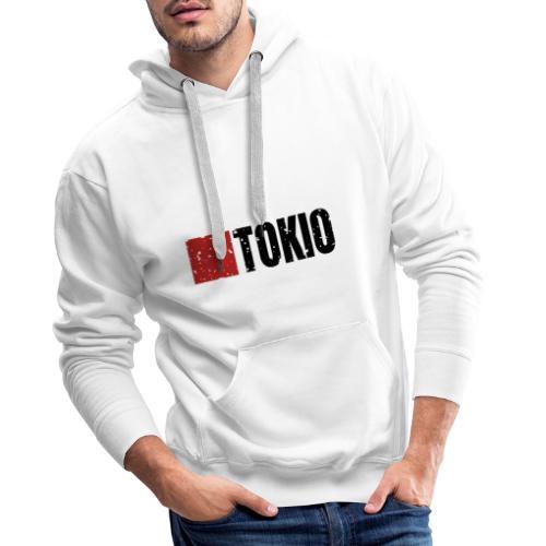 00160 Casa Papel Tokio negro - Sudadera con capucha premium para hombre