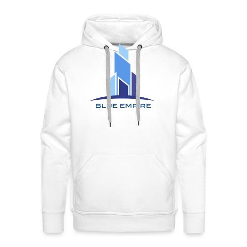 Logo Azul - Sudadera con capucha premium para hombre