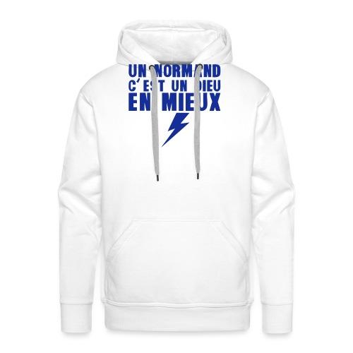 un normand dieu en mieux foudre - Sweat-shirt à capuche Premium pour hommes