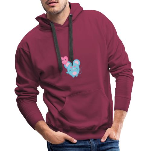 little mouse, mouse, mouse pad, little mouse, pink - Men's Premium Hoodie