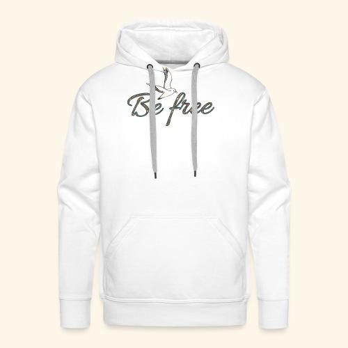 be free - Sweat-shirt à capuche Premium pour hommes