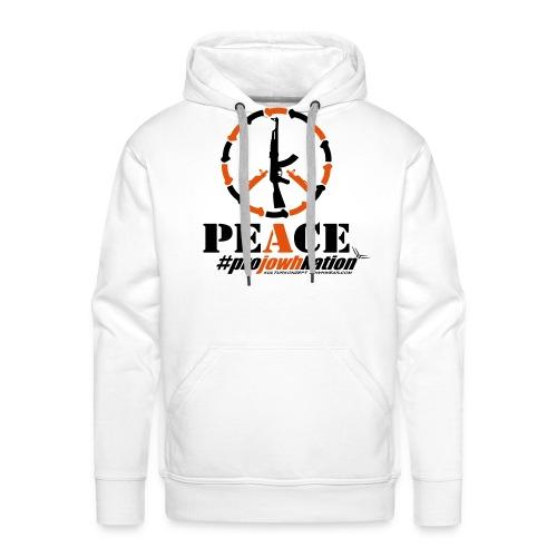 guns4peace projowhkation 1 vect1 - Männer Premium Hoodie