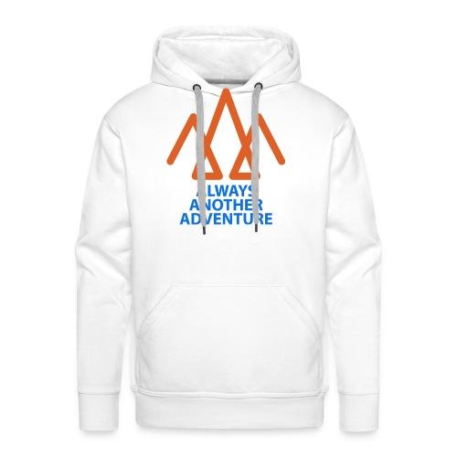 Orange logo, blue text - Men's Premium Hoodie