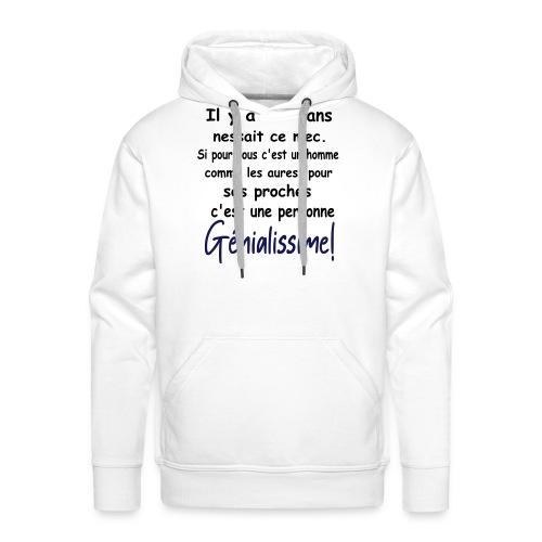T-SHIRT PERSONNALISABLE/PERSONNALISER/ANNIVERSAIRE - Sweat-shirt à capuche Premium pour hommes