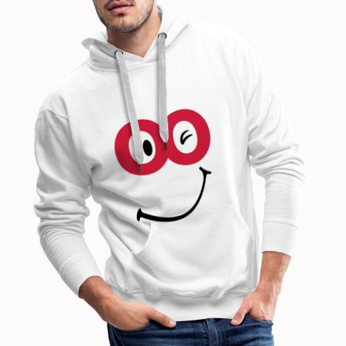 sorriso - Felpa con cappuccio premium da uomo